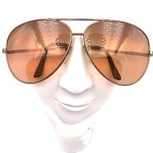 VINTAGE SERENGETI  BRONZE METAL AVIATOR SUNGLASSES